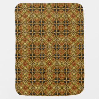Victorian Art Nouveau Medieval Pattern Gold Baby Blanket