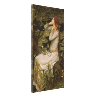 Victorian Art, Ophelia by the Pond by Waterhouse Canvas Print