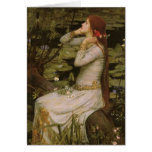 Victorian Art, Ophelia by the Pond by Waterhouse Greeting Card