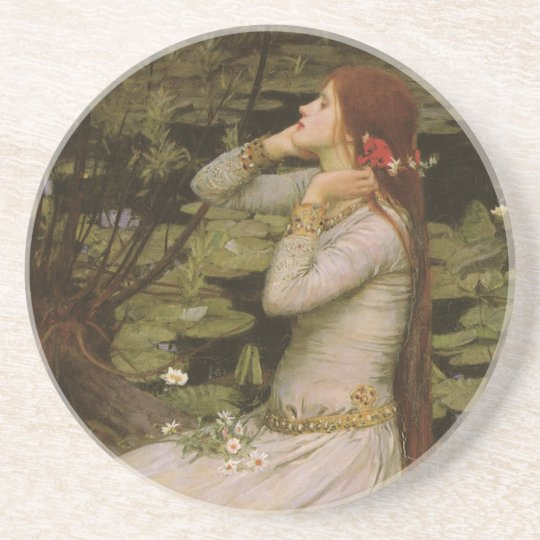 Victorian Art, Ophelia by the Pond by Waterhouse Drink Coaster