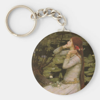 Victorian Art, Ophelia by the Pond by Waterhouse Keychain