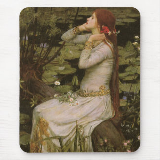 Victorian Art, Ophelia by the Pond by Waterhouse Mouse Pad