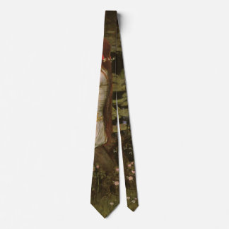 Victorian Art, Ophelia by the Pond by Waterhouse Neck Tie