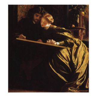 Victorian Art, Painter's Honeymoon by Leighton Poster