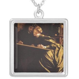 Victorian Art, Painter's Honeymoon by Leighton Silver Plated Necklace