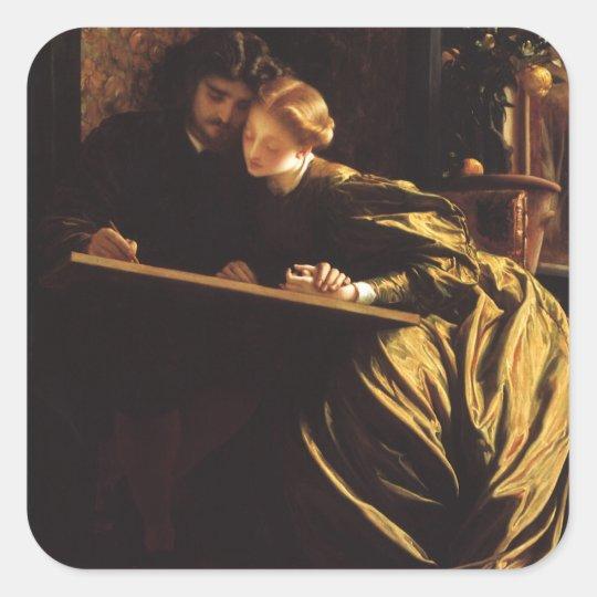 Victorian Art, Painter's Honeymoon by Leighton Square Sticker