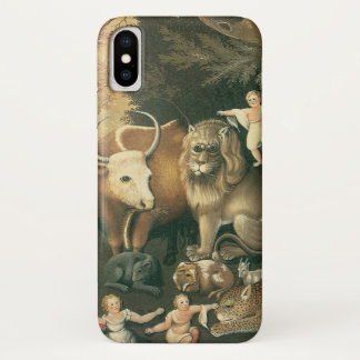 Victorian Art, Peaceable Kingdom by Edward Hicks iPhone X Case