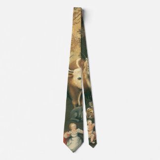 Victorian Art, Peaceable Kingdom by Edward Hicks Neck Tie