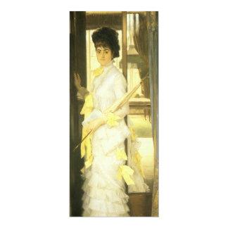 Victorian Art, Portrait of Miss Lloyd by Tissot Card