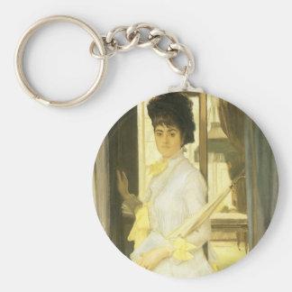 Victorian Art, Portrait of Miss Lloyd by Tissot Keychain