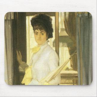 Victorian Art, Portrait of Miss Lloyd by Tissot Mouse Pad