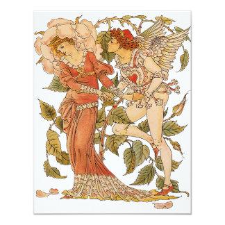 Victorian Art, Rose by Walter Crane Invitation