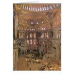 Victorian Art, Sketch of Santa Sophia by Sargent Card