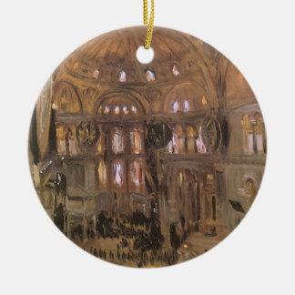 Victorian Art, Sketch of Santa Sophia by Sargent Ceramic Ornament