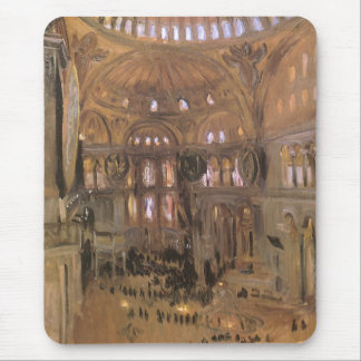 Victorian Art, Sketch of Santa Sophia by Sargent Mouse Pad