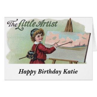 Victorian Artist at Work Card