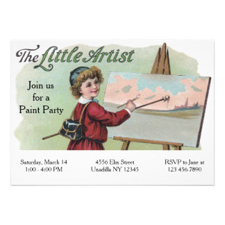 Victorian Artist Children's Painting Party Card