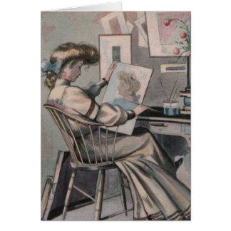 Victorian Artist Greeting Card