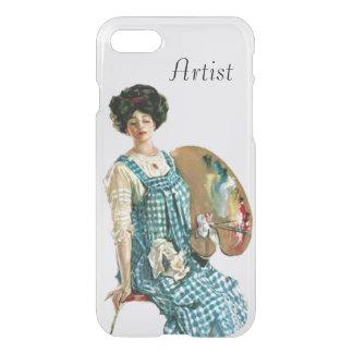 Victorian Artist Lady Plaid Paint Smock Palette iPhone 7 Case