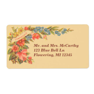 Victorian Avery floral del vintage Etiquetas De Envío