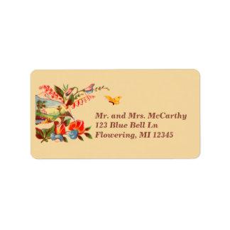 Victorian Avery floral del vintage Etiquetas De Dirección
