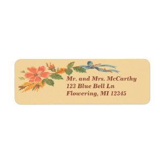 Victorian Avery floral del vintage Etiquetas De Remite