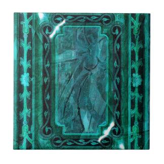 Victorian azul del vintage de la aguamarina elegan azulejos ceramicos