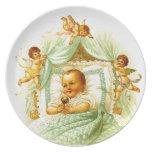 Victorian Baby Cherubs Shower Gift Wall Decor Plates
