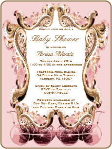 Victorian baby carriage invitations zazzle victorian baby shower invitation filmwisefo