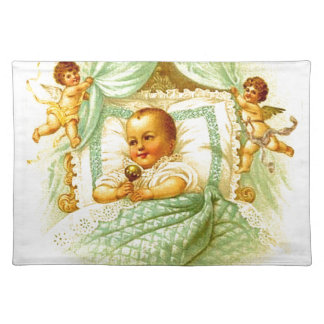 Victorian Baby Shower or Fabric Print for Projects Place Mat