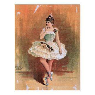 Victorian ballerina (1890) postcard