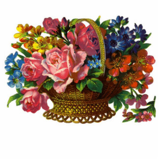 Victorian Basket of Flowers Photo ... Photo Cut Outs