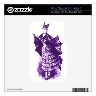 Victorian Bat Costume (Violet) Ver. 1 Skins For iPod Touch 4G
