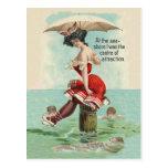 Victorian Bathing Beauty Postcard
