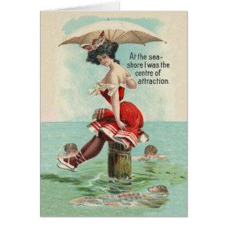 Victorian Beach Beauty Card