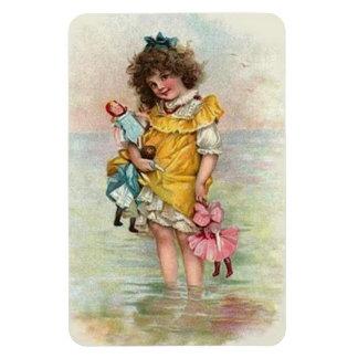 Victorian Beach Girl Dolls Premium Flexi Magnet
