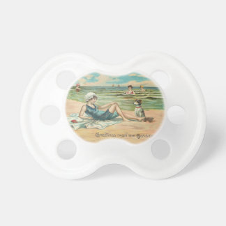 Victorian Beach Swimsuit Girl Pacifier