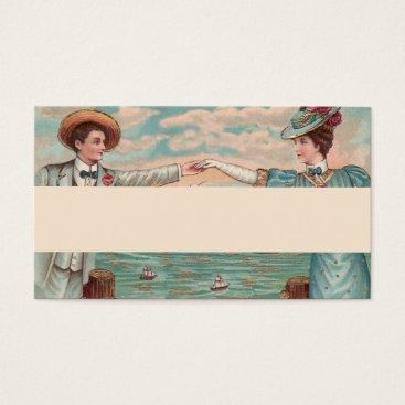 Beach Themed Victorian Beach Wedding Couple Business Card