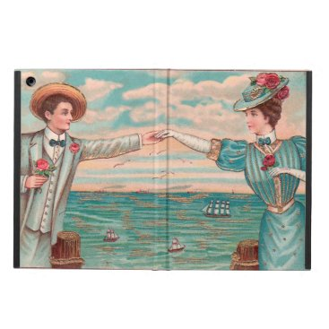 Beach Themed Victorian Beach Wedding Couple Case For iPad Air