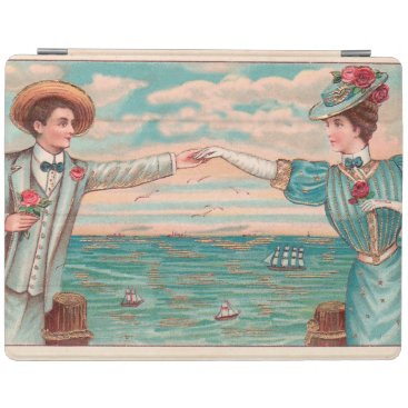 Beach Themed Victorian Beach Wedding Couple iPad Smart Cover