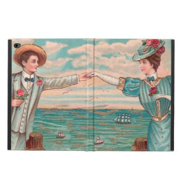 Beach Themed Victorian Beach Wedding Couple Powis iPad Air 2 Case