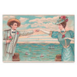 Victorian Beach Wedding Couple Tissue Paper