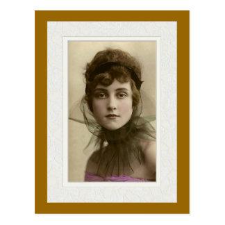 Victorian beauty intense look netting pink top postcard