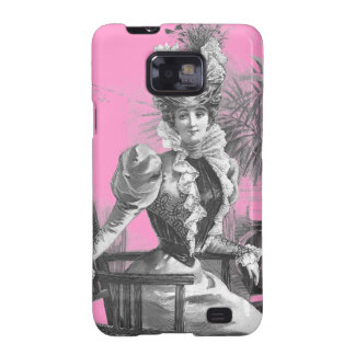 Victorian Beauty Pink and Black Samsung Galaxy SII Cases