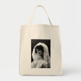Victorian Beauty with Cameo pose Tote Bags