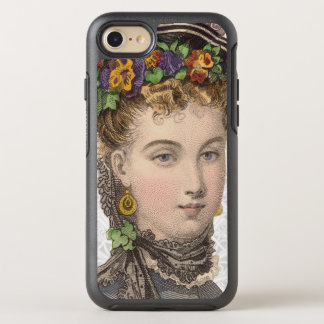 Pretty victorian easter gifts on zazzle victorian beauty with pansies in her hair otterbox symmetry iphone 87 case negle Choice Image