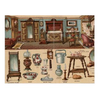Victorian Bedroom Postcard