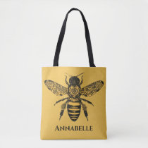 Victorian Bee Tote Bag