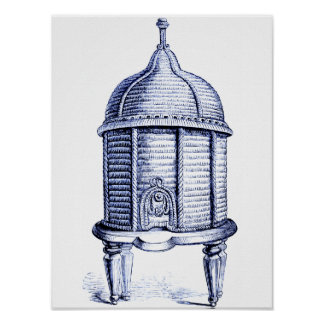 Victorian Beehive Blue Tint Poster
