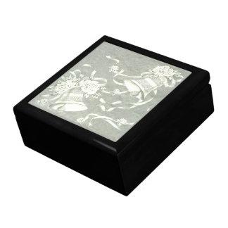 Victorian Belces de plata Caja De Joyas